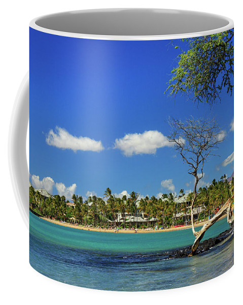Bay Coffee Mug featuring the photograph Anaehoomalu Bay by James Eddy