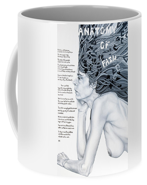 Poetry Coffee Mug featuring the painting Anatomy Of Pain by Judy Henninger