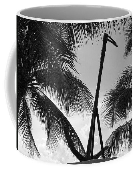 Black And White Coffee Mug featuring the photograph Anchor In Black And White by Rob Hans