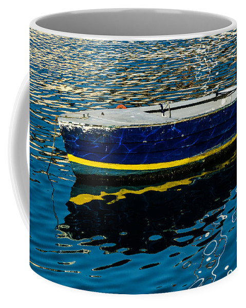 Boat Coffee Mug featuring the photograph Anchored Boat by Wolfgang Stocker