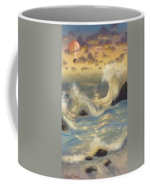 Digital Art Coffee Mug featuring the digital art Anchors Away by Susan Rossell
