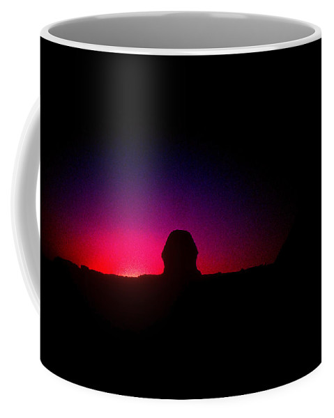 Sphinx Coffee Mug featuring the photograph Ancient Evenings by Gary Wonning