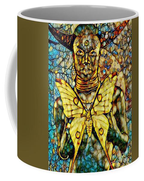 Ancient Goddess Coffee Mug featuring the mixed media Ancient Goddess The Mother by Olga Hamilton