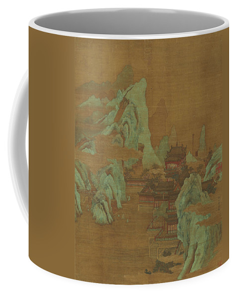 Ancient Coffee Mug featuring the painting Ancient Landscape by Qiu Ying