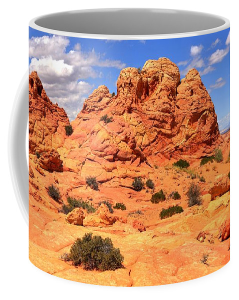 Utah Panorama Coffee Mug featuring the photograph Ancient Petrified Landsape by Adam Jewell