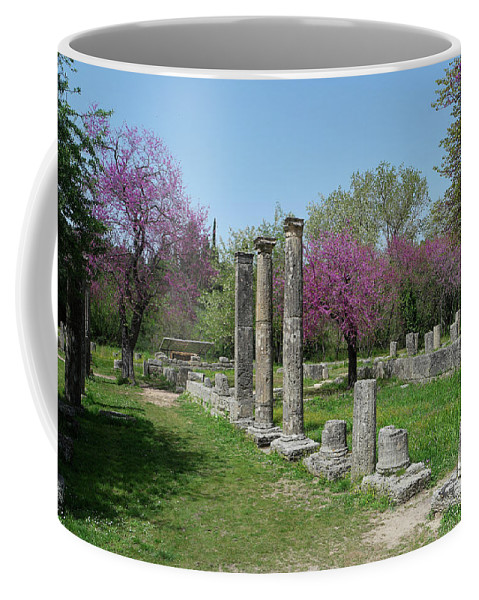Ancient Ruins Coffee Mug featuring the photograph Ancient Ruins Columns 2 by Mark Victors