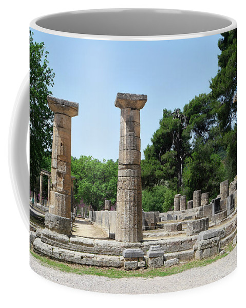 Ancient Ruins Coffee Mug featuring the photograph Ancient Ruins Wide Columns by Mark Victors