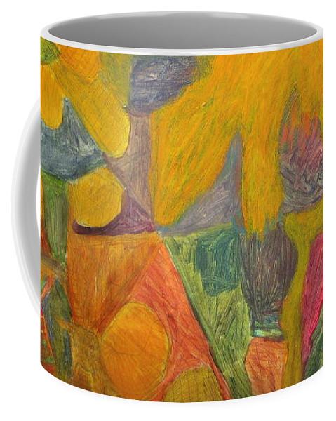 Eunice Broderick Paintings Coffee Mug featuring the painting Ancient Times by Eunice Broderick