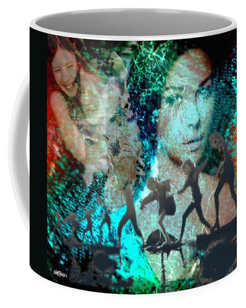 Childhood Coffee Mug featuring the digital art And that Reminds Me by Seth Weaver