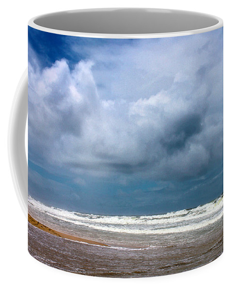 Waves Coffee Mug featuring the photograph And The Sea Foam Rolls In by Susan Vineyard