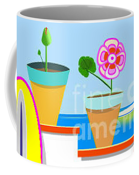 Roof Coffee Mug featuring the digital art Andalusian Roof by Jon Fennel