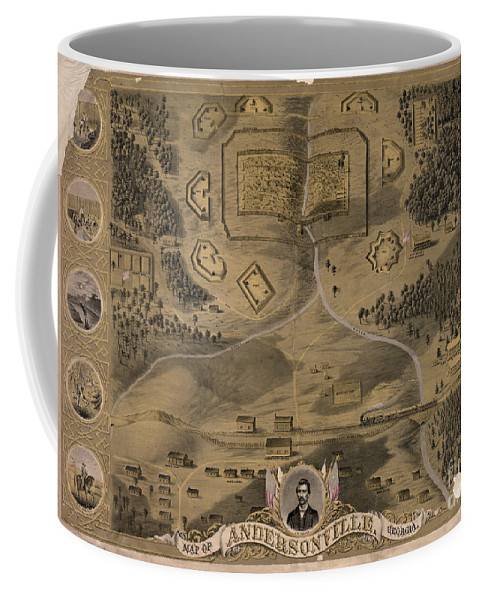 1864 Coffee Mug featuring the photograph Andersonville Prison by Granger