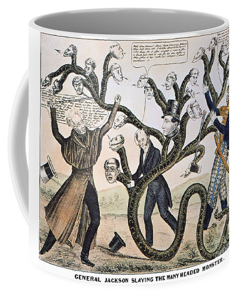 1828 Coffee Mug featuring the photograph Andrew Jackson (1828) by Granger