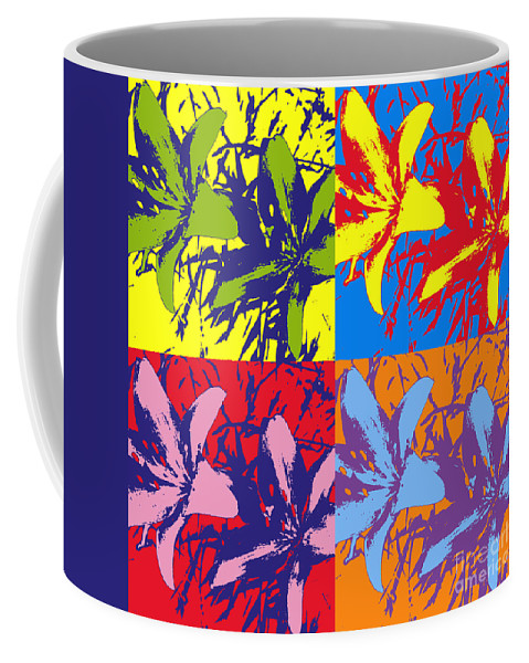 Andy Coffee Mug featuring the photograph Andy's Lillies by Chad Kroll