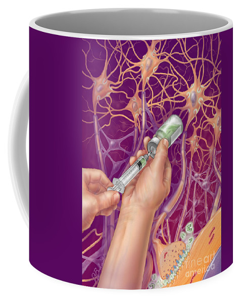 Neuroanatomy Coffee Mug featuring the photograph Anesthetic, Illustration by DNA Illustrations