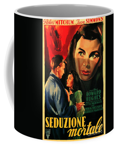 Angel Face Coffee Mug featuring the painting Angel Face 1952 Film Noir by R Muirhead Art