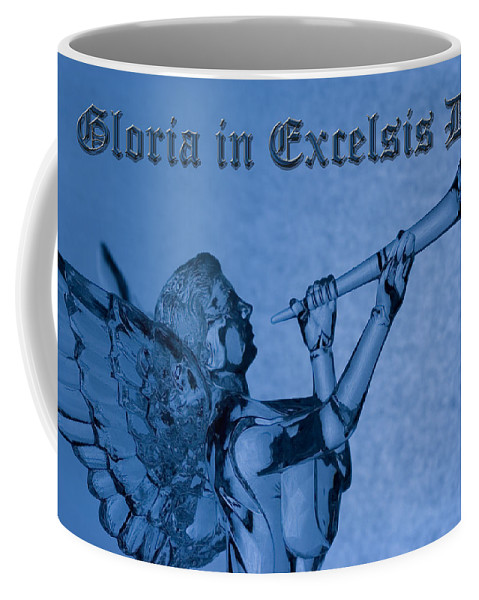 Christmas Coffee Mug featuring the photograph Angel Gloria In Excelsis Deo by Denise Beverly