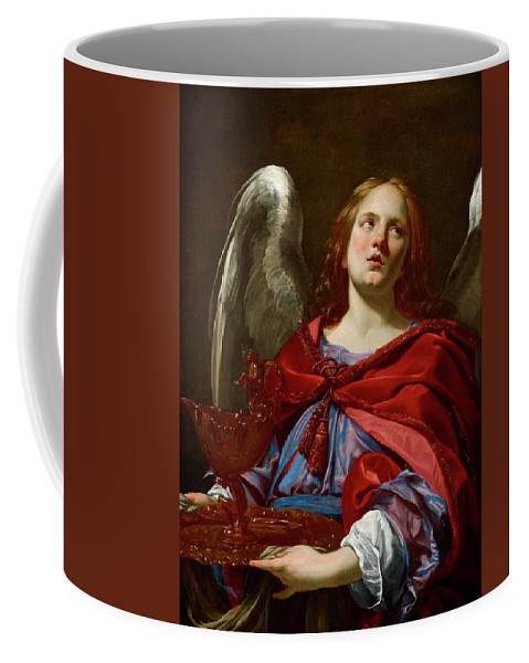 Angel Coffee Mug featuring the painting Angel Holding The Vessel And Towel For Washing The Hands Of Pontius Pilate by Simon Vouet