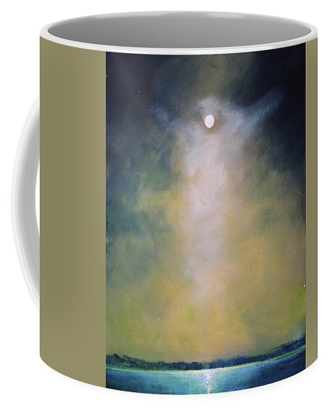 Angel Coffee Mug featuring the painting Angel Light by Toni Grote