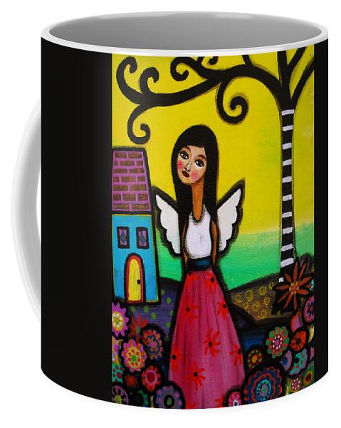 Nilda Coffee Mug featuring the painting Angel Nilda by Pristine Cartera Turkus