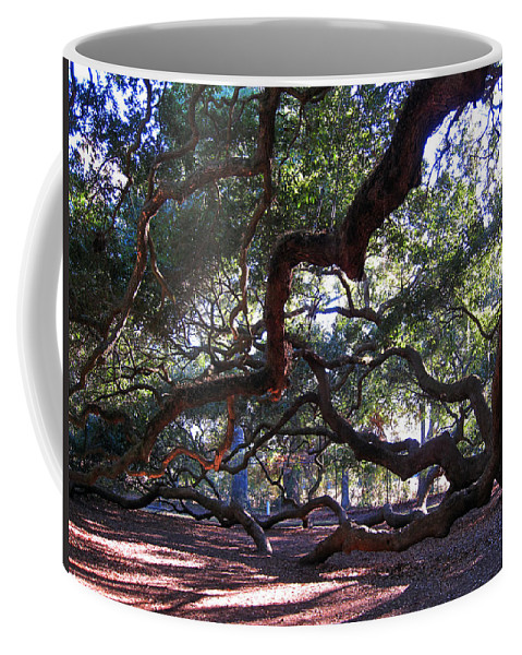 Photography Coffee Mug featuring the photograph Angel Oak Side View by Susanne Van Hulst