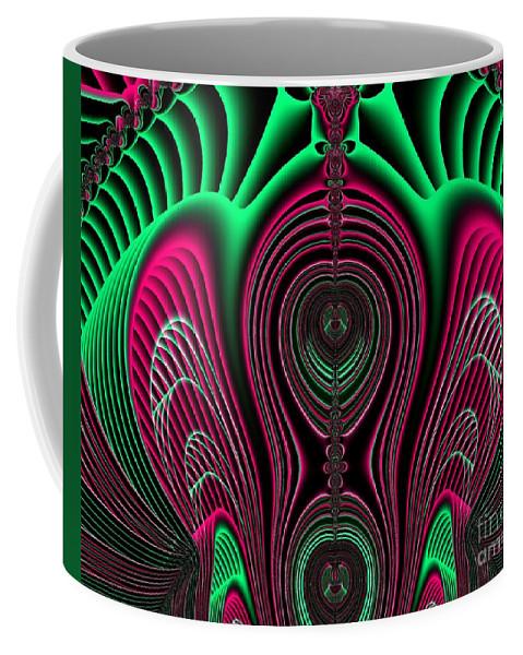 Angel Of Life Coffee Mug featuring the digital art Angel Of Lifes Aura Fractal 114 by Rose Santuci-Sofranko