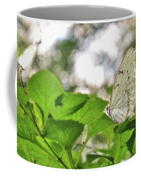 Butterfly Coffee Mug featuring the digital art Angel Wings by Anita Hubbard