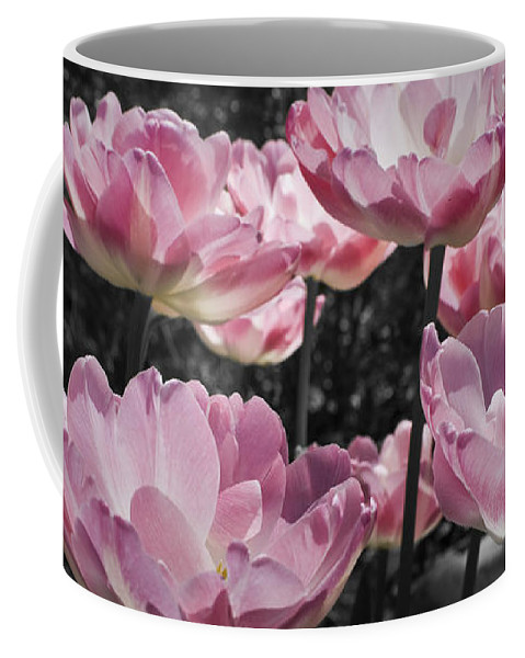 Pink Coffee Mug featuring the photograph Angelique Peony Tulips by Teresa Mucha
