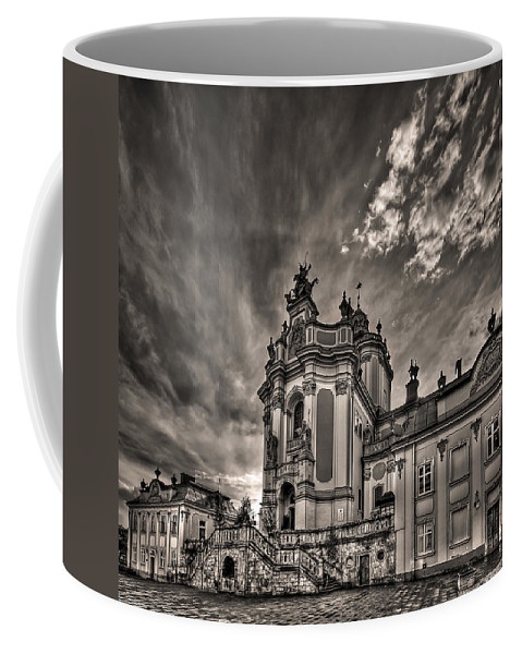 Architecture Coffee Mug featuring the photograph Angels And Demons by Evelina Kremsdorf