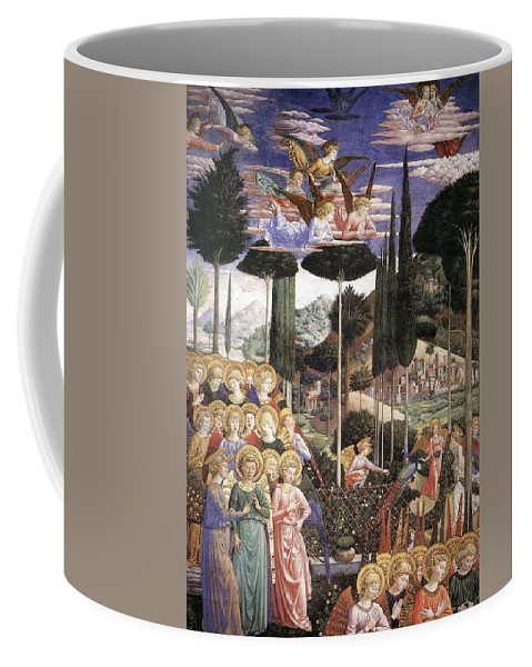 Christmas Coffee Mug featuring the painting Angels Art by Munir Alawi