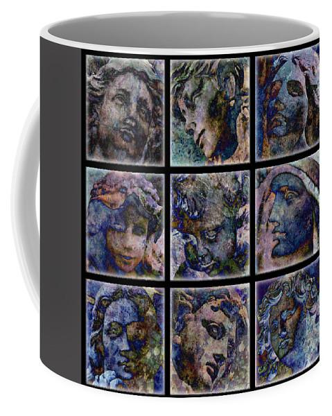 Angel Coffee Mug featuring the digital art Angels by Barbara Berney