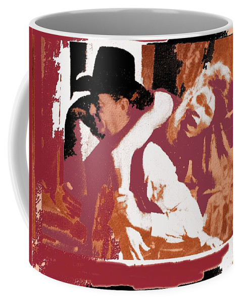 Angie Dickinson Robert Mitchum Young Billy Young Old Tucson #2 Photographer Unknown 1969-2013 Coffee Mug featuring the photograph Angie Dickinson Robert Mitchum Young Billy Young Old Tucson #2 Photographer Unknown 1969-2013 by David Lee Guss