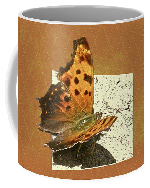 Butterfly Coffee Mug featuring the photograph Anglewing Butterfly by Mother Nature