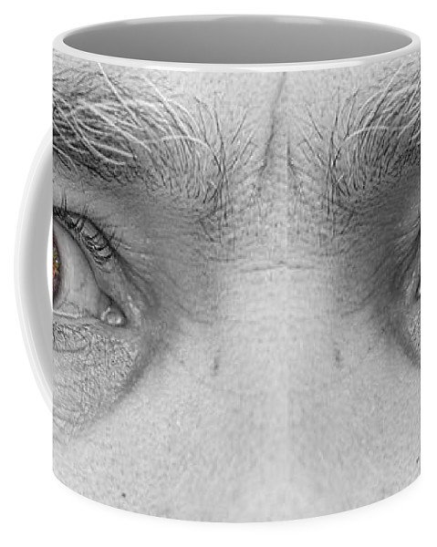 Eyes Coffee Mug featuring the photograph Angry Eyes by James BO Insogna