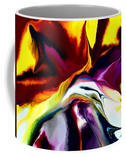 Abstract Coffee Mug featuring the digital art Angst by David Lane