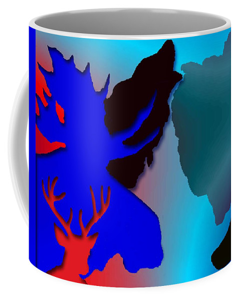 Animal Coffee Mug featuring the digital art Animal Collage -011 by Will Logan