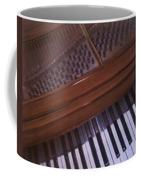 Piano Coffee Mug featuring the mixed media Anita's Piano 1 by Anita Burgermeister