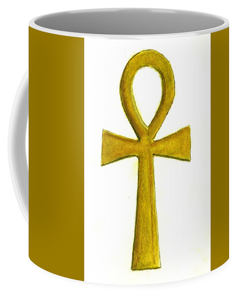 Ankh Coffee Mug featuring the painting Ankh  by Michael Vigliotti