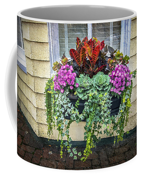 2d Coffee Mug featuring the photograph Annapolis Flower Box by Brian Wallace