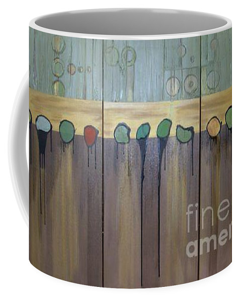 Abstract Coffee Mug featuring the painting Annie by Marlene Burns