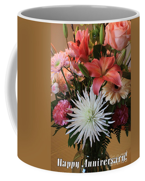 Bouquet Coffee Mug featuring the photograph Anniversary Card by Carol Groenen
