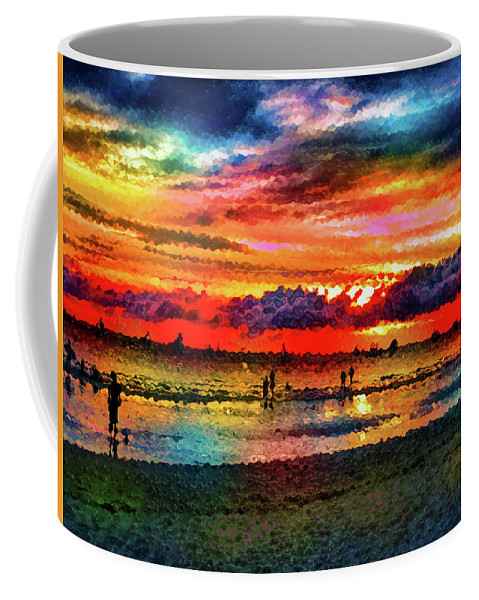 World's Coffee Mug featuring the digital art Another Day At The Beach by Ron Fleishman