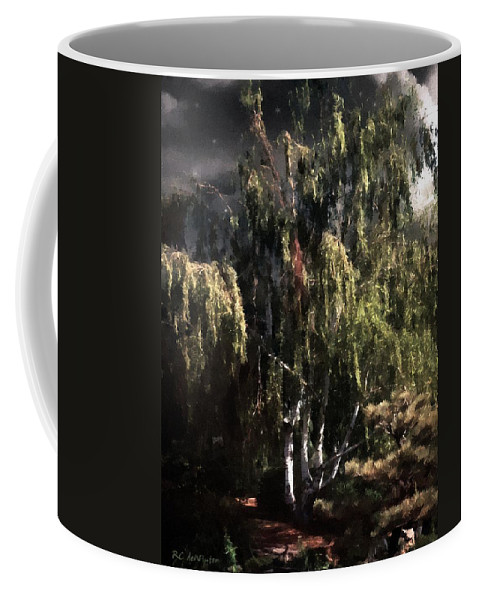 Colorado Coffee Mug featuring the painting Another Garden Another Midnight by RC DeWinter