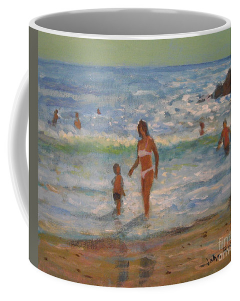 Sea Coffee Mug featuring the painting Another Hot Day by John Richie