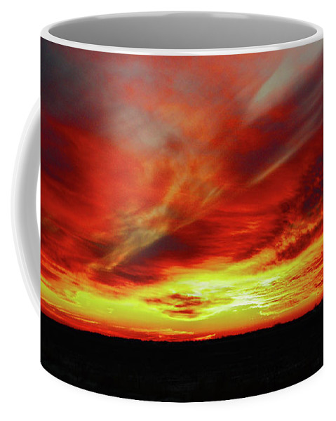 Sunset Coffee Mug featuring the photograph Another Illinois Sunset by Larry Jost