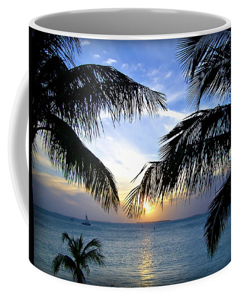 Sunset Coffee Mug featuring the photograph Another Key West Sunset by Joan Minchak