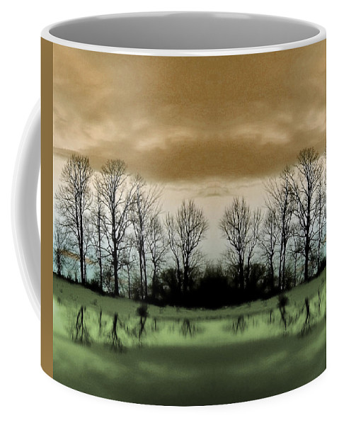 Green Coffee Mug featuring the photograph Another Planet by Munir Alawi