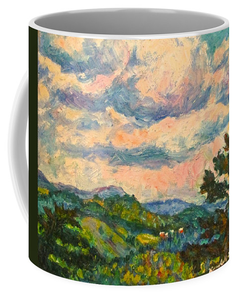 Landscape Paintings Coffee Mug featuring the painting Another Rocky Knob by Kendall Kessler