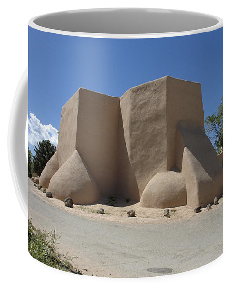 Taos Coffee Mug featuring the photograph Ansel's Church by Jerry McElroy