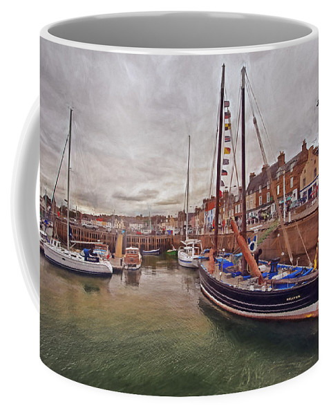 Landscape Coffee Mug featuring the photograph Anstruther Harbor by Marcia Colelli